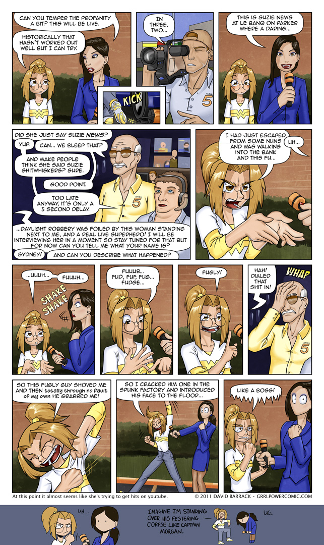 Grrl Power #62 – A memorable start to her interviewing career